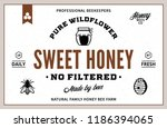 honey label and packaging... | Shutterstock .eps vector #1186394065