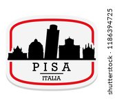 pisa italy label stamp icon... | Shutterstock .eps vector #1186394725