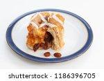 freshly baked chelsea bun on a...   Shutterstock . vector #1186396705