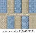 set of seamless line patterns.... | Shutterstock .eps vector #1186402192