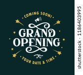 grand opening template  banner  ... | Shutterstock .eps vector #1186403995