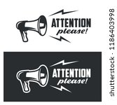 attention please symbols set on ... | Shutterstock .eps vector #1186403998