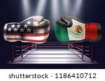 boxing gloves with prints of... | Shutterstock .eps vector #1186410712