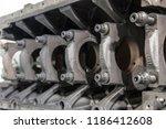 disassembled car engine bottom... | Shutterstock . vector #1186412608