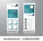 roll up stand design. vertical... | Shutterstock .eps vector #1186414582