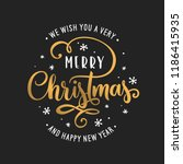 merry christmas and happy new... | Shutterstock .eps vector #1186415935