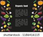 advertising poster for the... | Shutterstock .eps vector #1186416115
