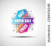 modern geometric gradient sale... | Shutterstock .eps vector #1186416148