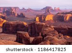 monument valley on the navajo... | Shutterstock . vector #1186417825