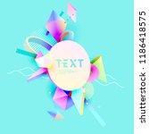 poster design  of 3d  primitive ... | Shutterstock .eps vector #1186418575