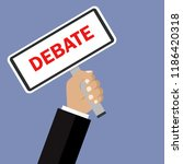 debate the poster. vector... | Shutterstock .eps vector #1186420318