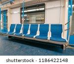 new modern subway metro train...   Shutterstock . vector #1186422148