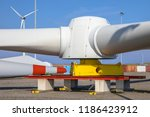 Giant Rotors Of Wind Turbine O...