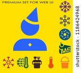 frost icon set. snowflake... | Shutterstock .eps vector #1186424968