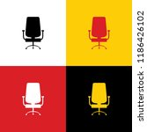office chair sign. vector.... | Shutterstock .eps vector #1186426102