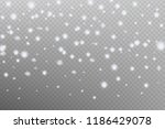 realistic falling snowflake... | Shutterstock .eps vector #1186429078