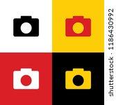 digital camera sign. vector.... | Shutterstock .eps vector #1186430992