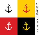 anchor icon. vector. icons of... | Shutterstock .eps vector #1186431025