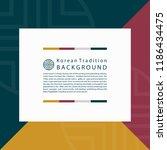 korean traditional background...   Shutterstock .eps vector #1186434475