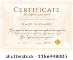 certificate template. formal... | Shutterstock .eps vector #1186448005