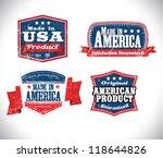 american made in usa retro... | Shutterstock .eps vector #118644826