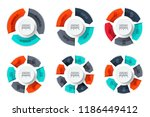 abstract infographics number... | Shutterstock .eps vector #1186449412