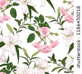 beautiful pattern with blooming ... | Shutterstock .eps vector #1186450018
