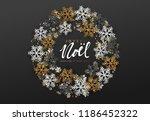 french text joyeux noel. merry... | Shutterstock .eps vector #1186452322