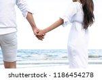 happy couple going honeymoon... | Shutterstock . vector #1186454278