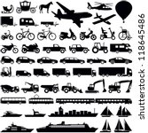 transportation icons collection ... | Shutterstock .eps vector #118645486