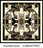 design scarf with leopard skin... | Shutterstock .eps vector #1186457965