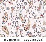 seamless pattern in ethnic... | Shutterstock .eps vector #1186458985