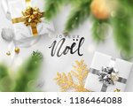 french text joyeux noel.... | Shutterstock .eps vector #1186464088