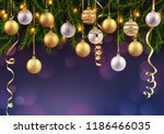 merry christmas and happy new... | Shutterstock .eps vector #1186466035