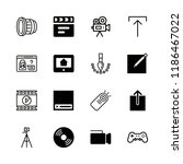 linear icons with upload and... | Shutterstock .eps vector #1186467022
