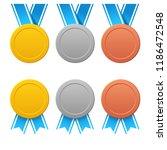 three medals set | Shutterstock .eps vector #1186472548