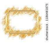 gold frame. beautiful golden... | Shutterstock .eps vector #1186481875