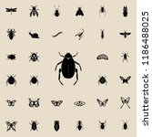 beetle icon. insect icons... | Shutterstock .eps vector #1186488025