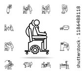wheelchair icon. hospital icons ... | Shutterstock .eps vector #1186488118
