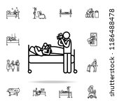 post natal icon. hospital icons ... | Shutterstock .eps vector #1186488478