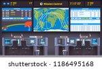 orbital space flight mission... | Shutterstock .eps vector #1186495168