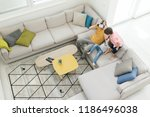 top view inside modern home and ... | Shutterstock . vector #1186496038
