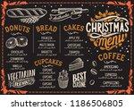 christmas menu template for... | Shutterstock .eps vector #1186506805