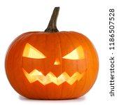 one halloween pumpkin isolated... | Shutterstock . vector #1186507528
