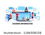 people using internet gadgets... | Shutterstock .eps vector #1186508158