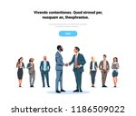 businessmen handshake agreement ... | Shutterstock .eps vector #1186509022
