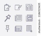 outline 9 sheet icon set.... | Shutterstock .eps vector #1186523635