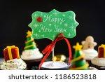 happy new year cake pops... | Shutterstock . vector #1186523818