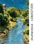 the oberaukanal flowing through ... | Shutterstock . vector #1186527205