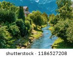 the oberaukanal flowing through ... | Shutterstock . vector #1186527208